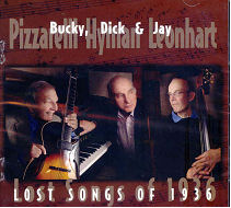 CD Cover - Lost Songs of 1936