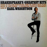 LP Cover - Earl Wrightson: Shakespeare's Greatest Hits